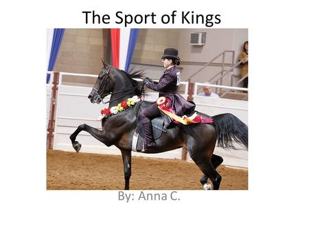 The Sport of Kings By: Anna C.. Table of Contents Introduction History of the Domesticated Horse Equipment for Riders – English and Western Equipment.