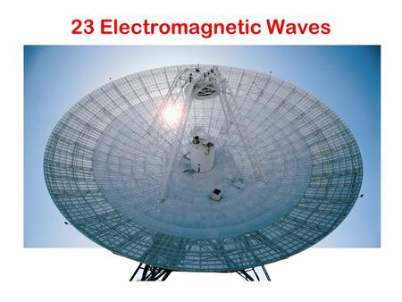 23 Electromagnetic Waves. Principle Faraday's law: time-varying B-field creates E-field (emf) Maxwell: time-varying E-field generates B-field (emf) EM.