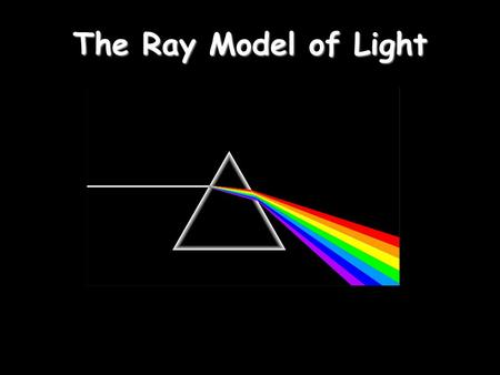 The Ray Model of Light. Light travels in straight lines: Laser Part 1 – Properties of Light.