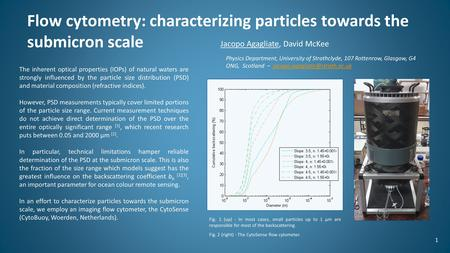 Flow cytometry: characterizing particles towards the submicron scale