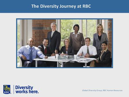 The Diversity Journey at RBC Global Diversity Group, RBC Human Resources.