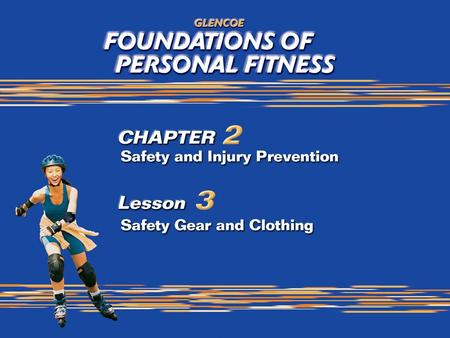 1. 2 What You Will Do Identify appropriate clothing for your personal fitness program. Demonstrate the basics of choosing appropriate, nonskid footwear.