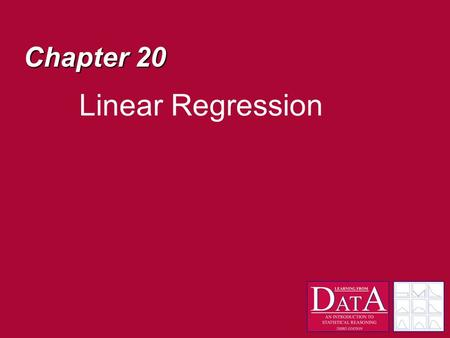 Chapter 20 Linear Regression. What if… We believe that an important relation between two measures exists? For example, we ask 5 people about their salary.