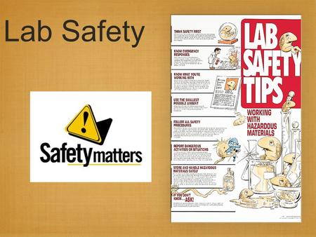 Lab Safety. Science is a hands-on laboratory class Safety is the #1 priority Rules to follow at all times Safety Contract to read and sign before laboratory.