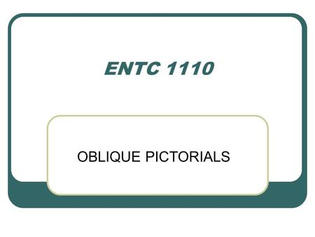 ENTC 1110 OBLIQUE PICTORIALS.