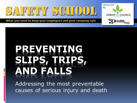 Addressing the most preventable causes of serious injury and death.