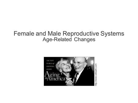 Female and Male Reproductive Systems Age-Related Changes