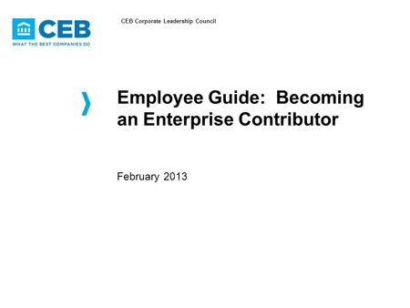 Employee Guide: Becoming an Enterprise Contributor