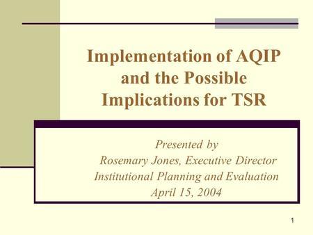 quality improvement implementation essay