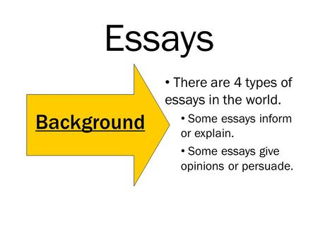 essays there are types of essays in the world some essays essays there are 4 types of essays in the world some essays inform or explain