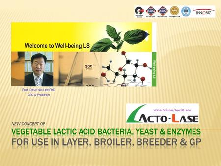 Prof. Deuk-sik Lee PhD CEO & President Water Soluble/Feed Grade.