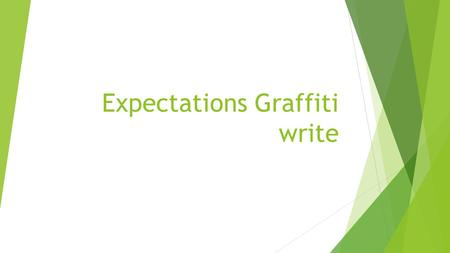 Expectations Graffiti write. On a sheet of paper  Mrs. Sheppard's Expectations graffiti write.  Use lots of colors  Be random in placements  Write.