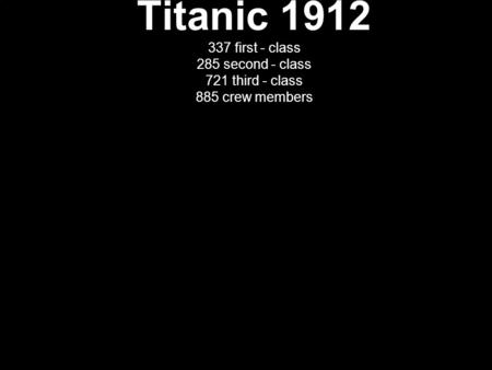 A Little About the Titanic