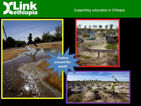 Supporting education in Ethiopia Cholera around the world.