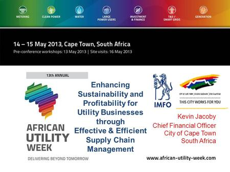 Kevin Jacoby Chief Financial Officer City of Cape Town South Africa