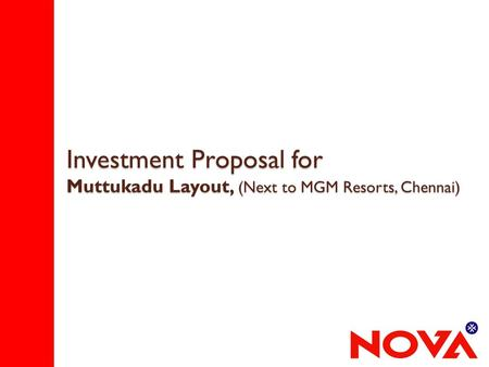 Investment Proposal for Muttukadu Layout, (Next to MGM Resorts, Chennai)