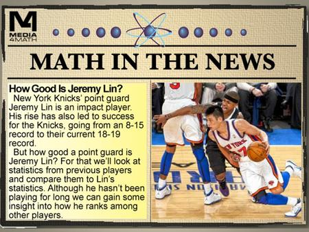 Basketball Stats Jeremy Lin is a point guard. And a point guard plays an important role on the basketball team. In some ways, the point guard is like.