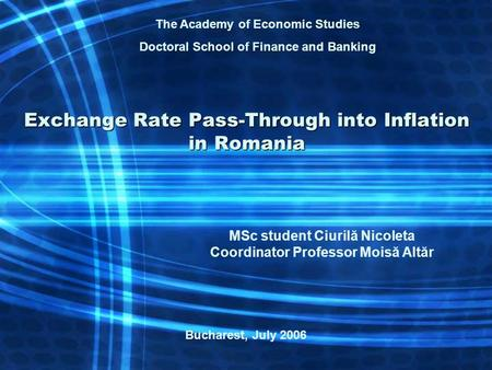 Exchange rates, international trade and inflation: a developing economy perspective