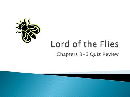 Chapters 3-6 Quiz Review.  The island is a microcosm.  The island symbolizes the adult world.
