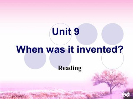 Unit 9 When was it invented? Reading Do you often play <strong>sports</strong>? What <strong>sports</strong> do you usually do? Can you list eight <strong>sports</strong> played in China? Warm up.