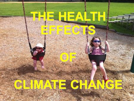 Health Effects of Climate Change THE HEALTH EFFECTS OF CLIMATE CHANGE.