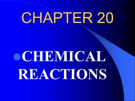 CHAPTER 20 CHEMICAL REACTIONS. 20.3 Conservation of Mass Antoine Laurent __________ (1743-94), established an important principal based on his experiments.