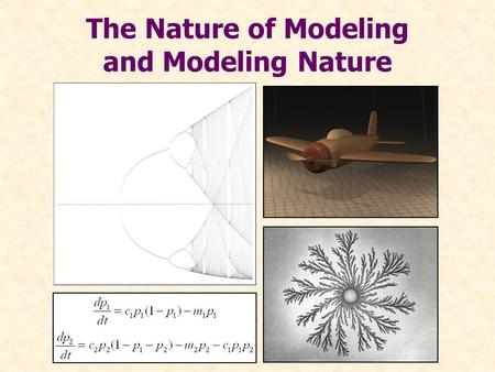 "The Nature of Modeling and Modeling Nature. ""The sciences do not try to explain, they hardly even try to interpret, they mainly make models… The justification."