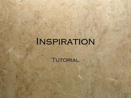 Inspiration Tutorial. Inspiration File>New File>Open Template Locate Inspiration.