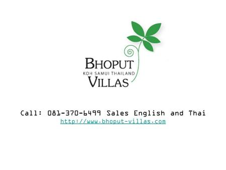 Call: 081-370-6499 Sales English and Thai