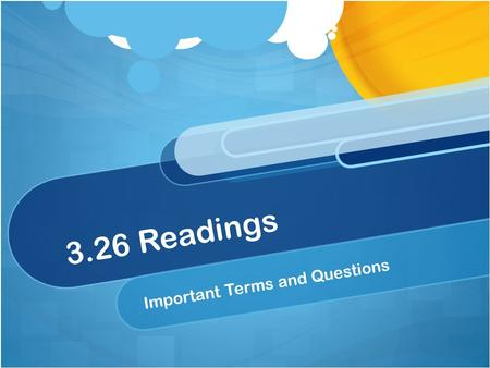 3.26 Readings Important Terms and Questions. Teachers who are aware of these issues are often better at making sure their classrooms are places where.