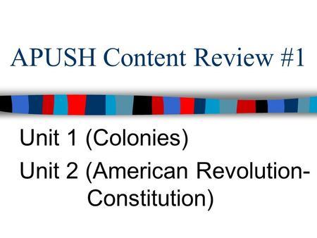 Apush constitution