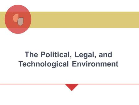 The Political, Legal, and Technological Environment.