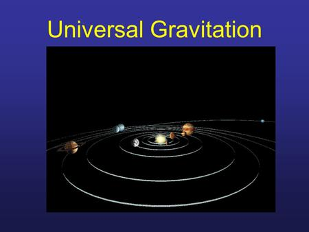 Universal Gravitation. Brief Astronomical History 85-165 A.D Ptolemy Greek Astronomer 85-165 A.D. Believed in Geo- centrism First to latitude and longitude.