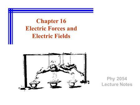 Chapter 16 Electric Forces and Electric Fields
