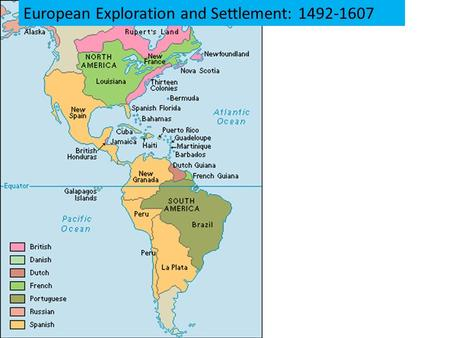 European Exploration and Settlement: