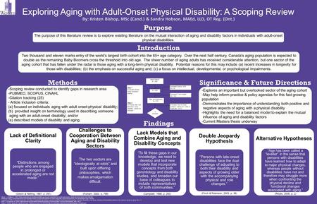 Findings The purpose of this literature review is to explore existing literature on the mutual interaction of aging and disability factors in individuals.