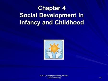 57 ©2013, Cengage Learning, Brooks/ Cole Publishing Chapter 4 Social Development in Infancy and Childhood.