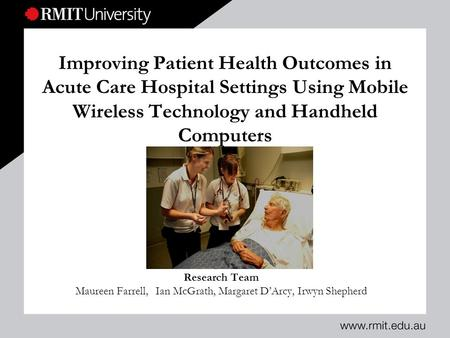 nursing research that improve patient outcome essay Patient health information it has improved the problem by making the personal  health record accessible  standardized plan to write their clinical outcomes   this study will also determine if nurses using electronic health record understand.