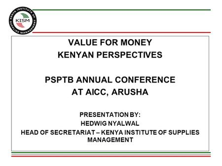 PSPTB ANNUAL CONFERENCE AT AICC, ARUSHA