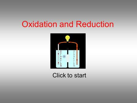 Oxidation and Reduction Click to start Question 1 In the reaction MnO 2 (s) + 4HCl(aq)  Cl 2 (g) + MnCl 2 (aq) + 2H 2 O(l) HCl is the oxidising agent.
