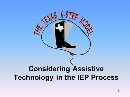 1 Considering Assistive Technology in the IEP Process.