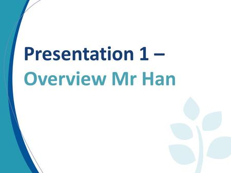 Presentation 1 – Overview Mr Han. Programming Resource Mobilization Delivery/Impact RM – an essential component RM is KEY to delivering on the CPF.