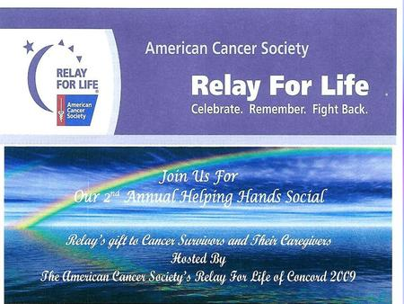 Colors Of Cancer ACSEvents Help Me Living With Cancer 100 200 300 400 500 Living With Cancer Living With Cancer.