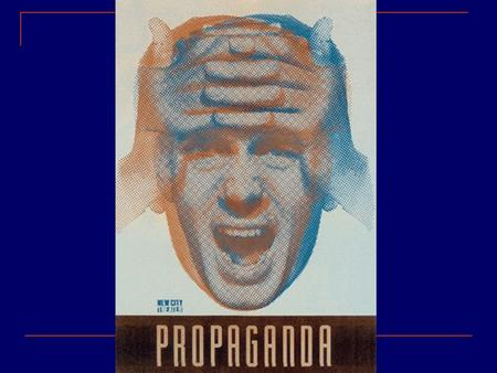 propaganda As generally understood, propaganda is opinion expressed for the purpose of influencing actions of individuals or groups. More formally,