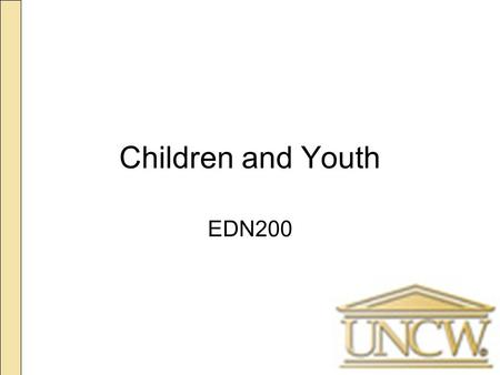 Children and Youth EDN200. Today's Plan Discuss next class: Research Meeting Quick Review Children and Youth: –Health and Well-being.