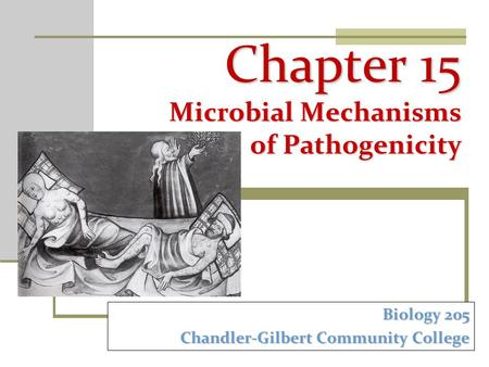 Chapter 15 Microbial Mechanisms of Pathogenicity Biology 205 Chandler-Gilbert Community College.