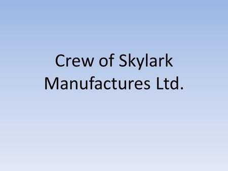 Crew of Skylark Manufactures Ltd.. Virág Muladi  Playing music makes life a euphonious concert.