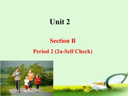 Unit 2 Section B Period 2 (2a-Self Check).
