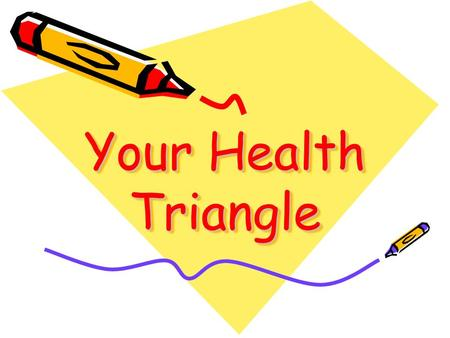 Your Health Triangle. Part 1 Label your paper My Health Triangle Physical Health 1.) 2.) 3.) 4.) 5.) 6.)