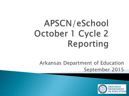 Arkansas Department of Education September 2015.  Required Annual Report  Lists district's enrollment with categorical breakdowns (Free, Reduced, Paid)